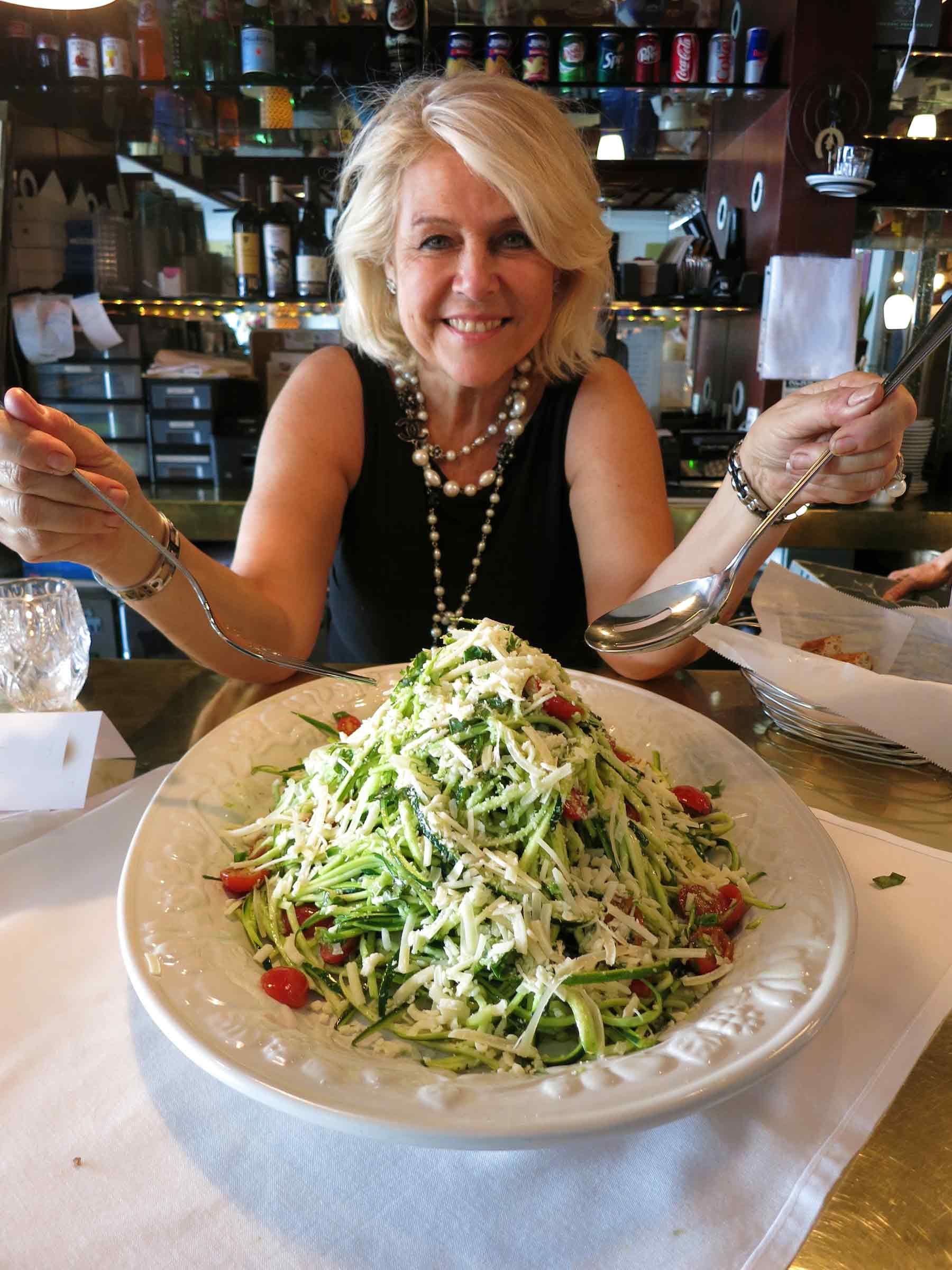 Zucchini spaghetti recipe by Michèle La Porta