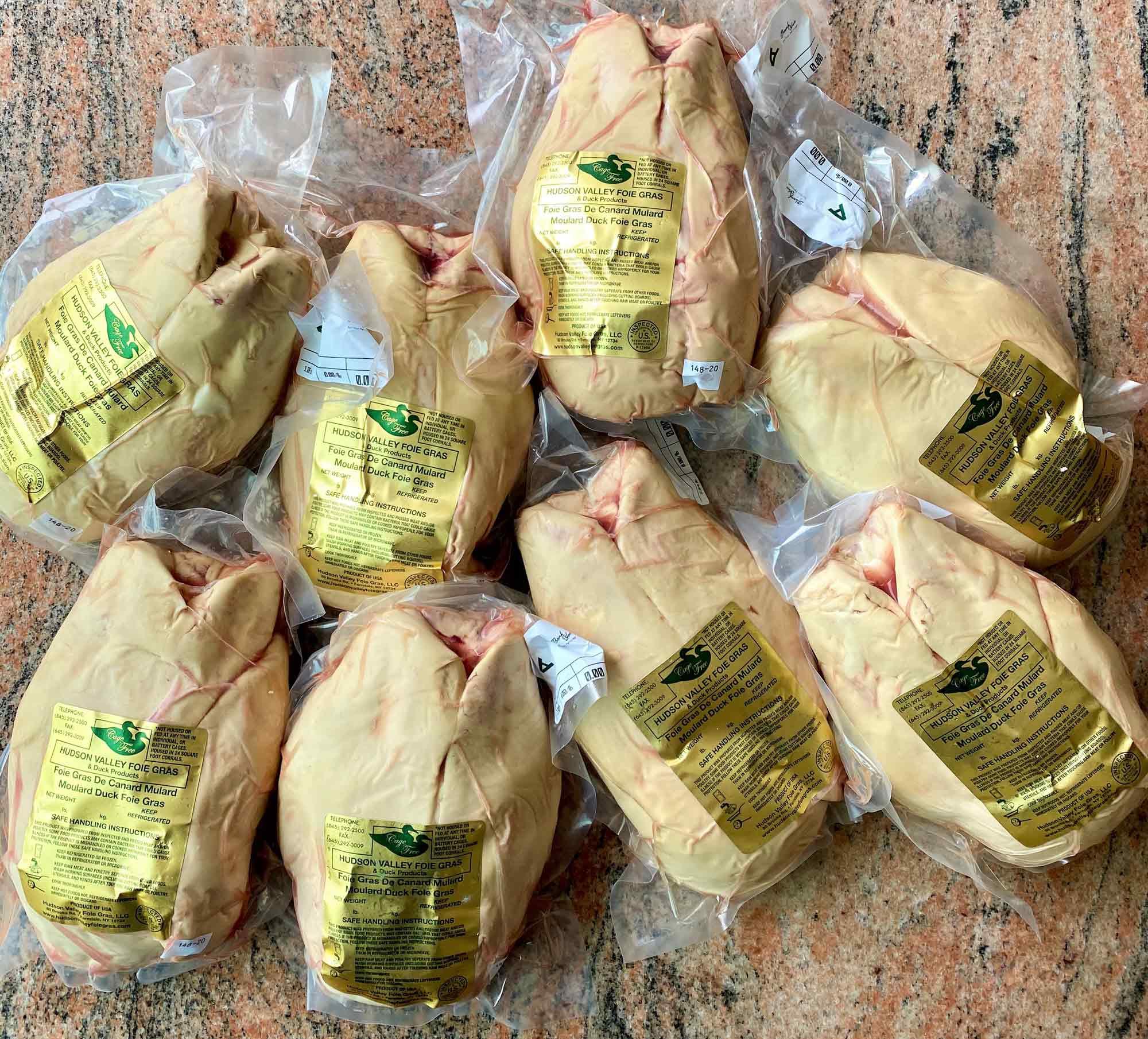 Foie gras shipping to California
