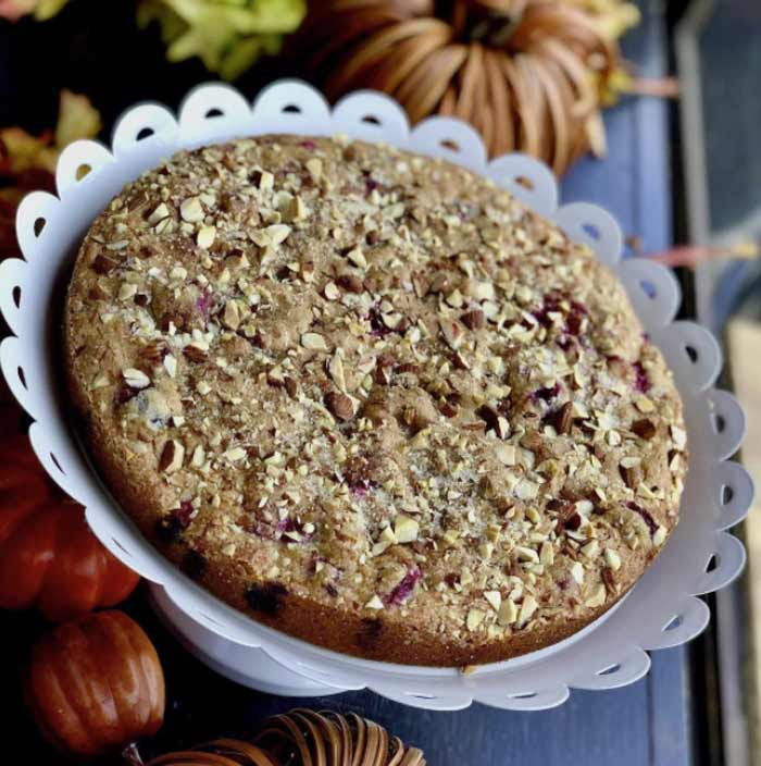 Yogurt Gluten-free Cranberry Cake