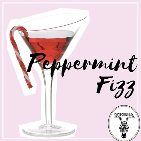 Peppermint fizz champagne cocktail