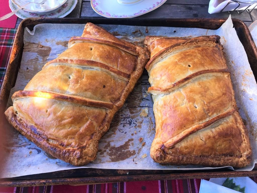 Salmon in puffed pastry recipe