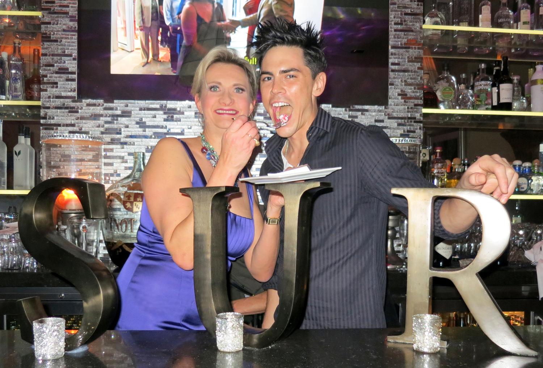 SUR Restaurant & Lounge bartender Tom Sandoval with Sophie Gayot