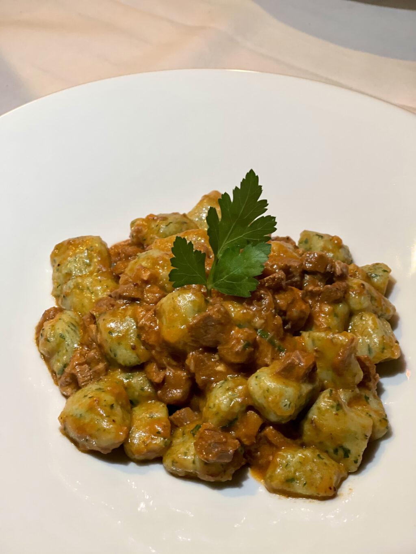Spinach gnocchetti in a lamb ragu