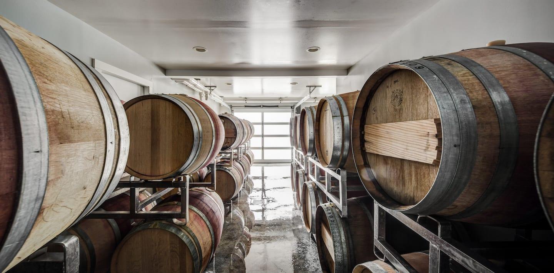 Stinson Vineyards barrels