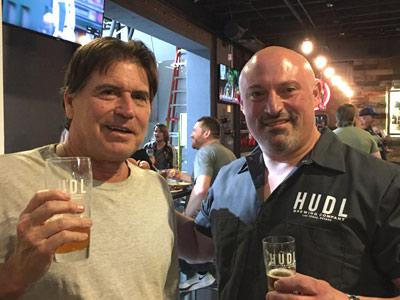 Bob Barnes and HUDL brewer Joe Cuozzo, Photo by Dave Canela
