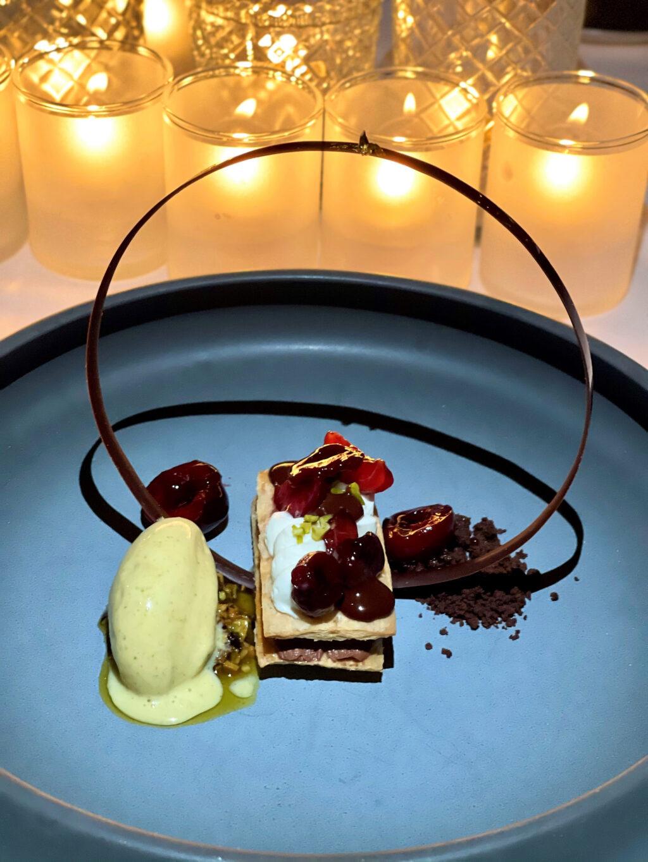 Cherries & chocolate dessert
