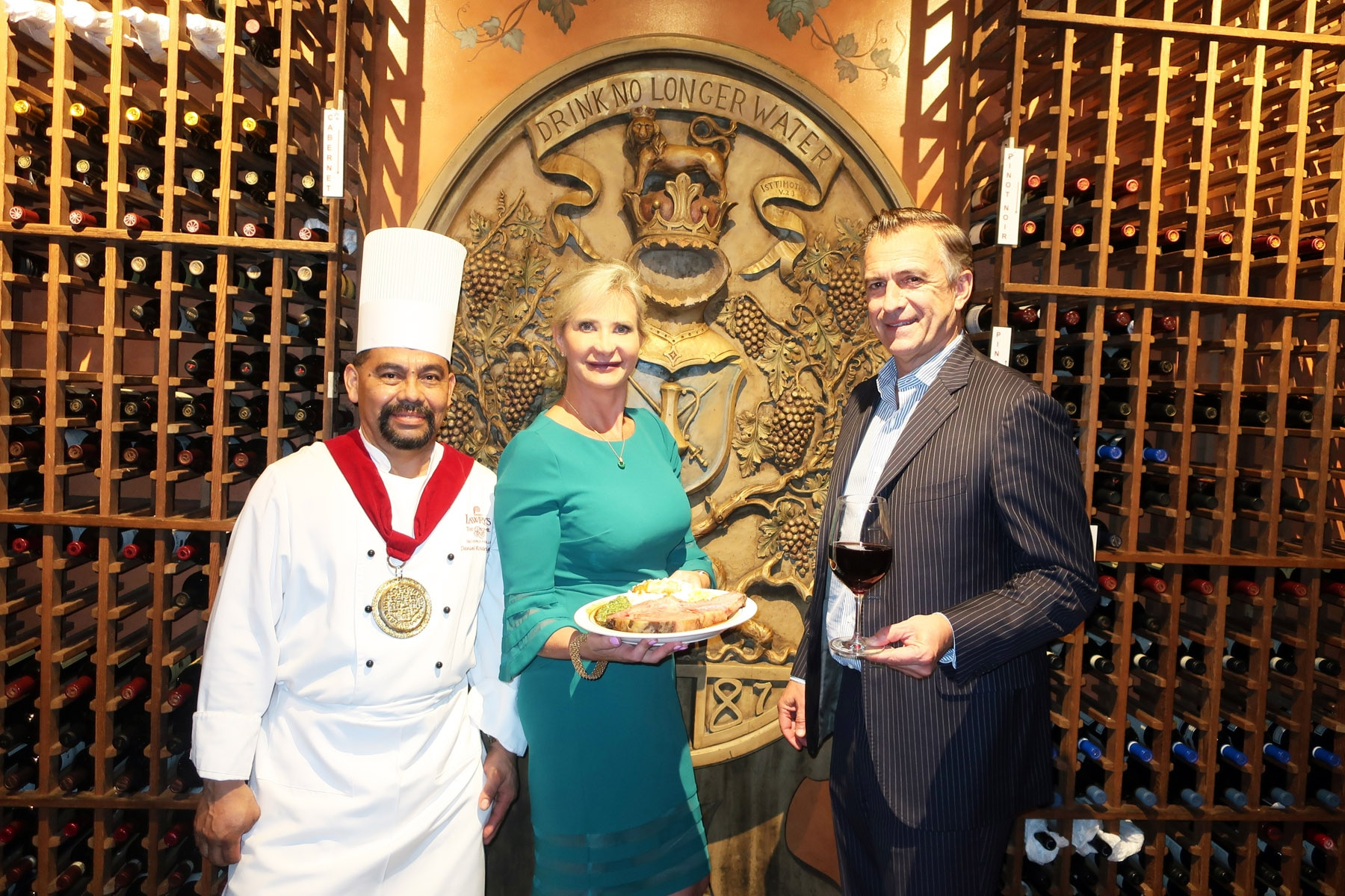 A Chef, Sophie Gayot, GAYOT's Wine & Spirits Editor Dirk Smits