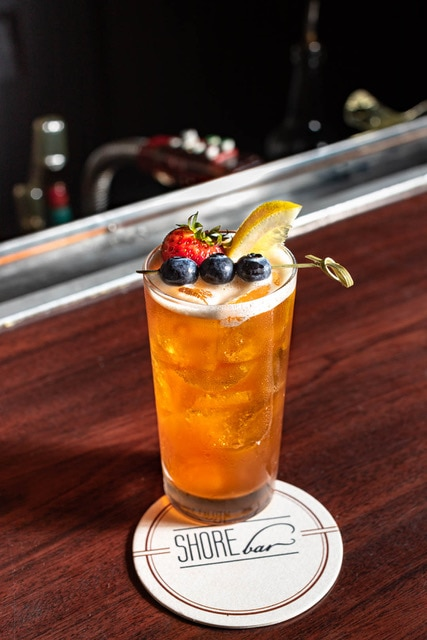 Strawberry skies craft cocktail