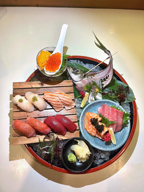 Selection of sushi & sashimi