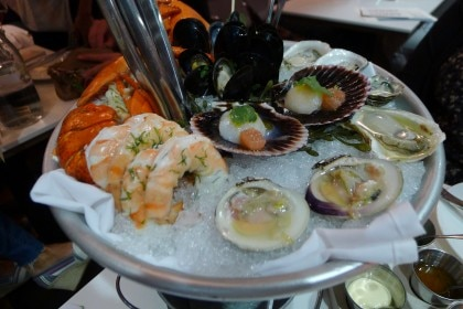 Seafood platter at Fishing With Dynamite