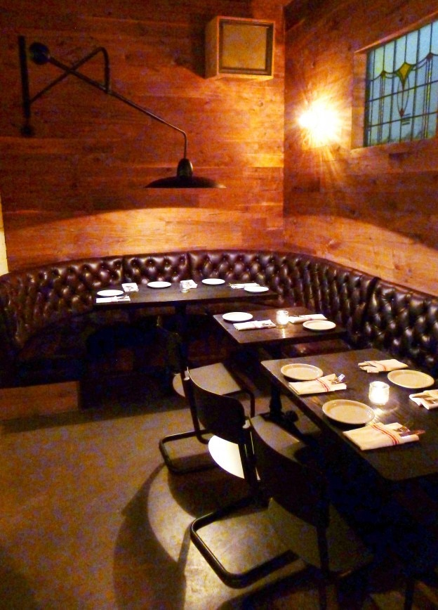 Shot of interior dining area at Flores in Los Angeles
