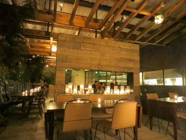 View of the patio at Hinoki & the Bird