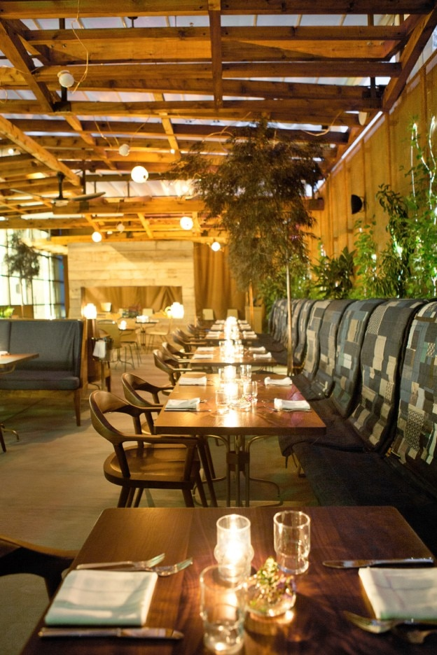 Patio tables at Hinoki & the Bird