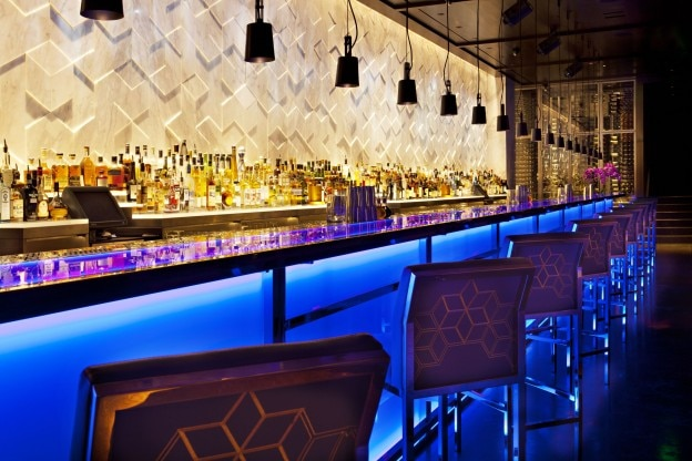 The bar at Hakkasan in Beverly Hills, CA