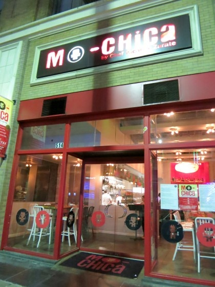 Exterior view of Mo-Chica in downtown Los Angeles