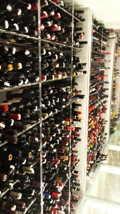 View of the wine cellar at the Plumed Horse in Saratoga, CA