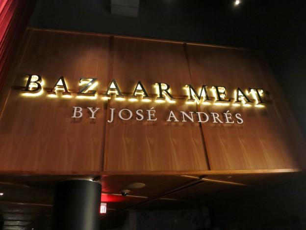 Sign Bazaar Meat by José Andrés