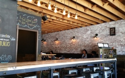 Counter seating at Vegetable